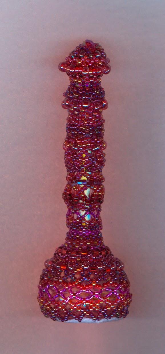 beaded bottle