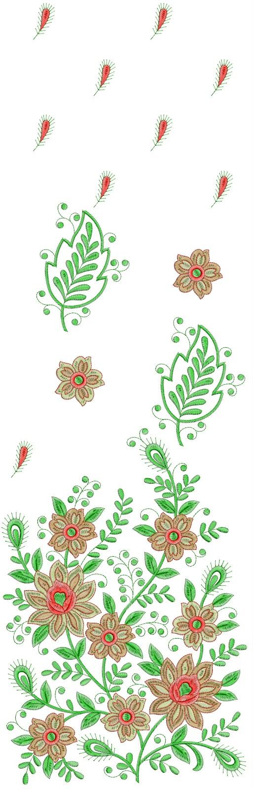 Daman Type Dress Amp Indian Sarees Embroidery Design