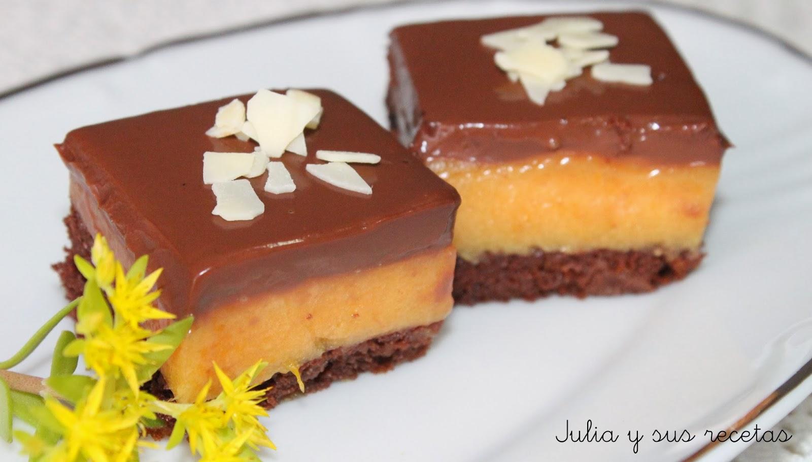 Julia y sus recetas cuadraditos de naranja y chocolate - Primeros platos faciles y originales ...