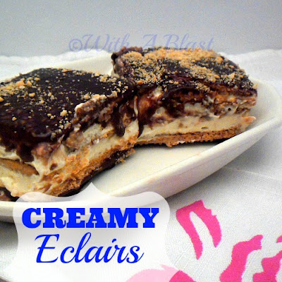 With A Blast: Creamy Eclairs   #dessert  #eclairs  #creamy