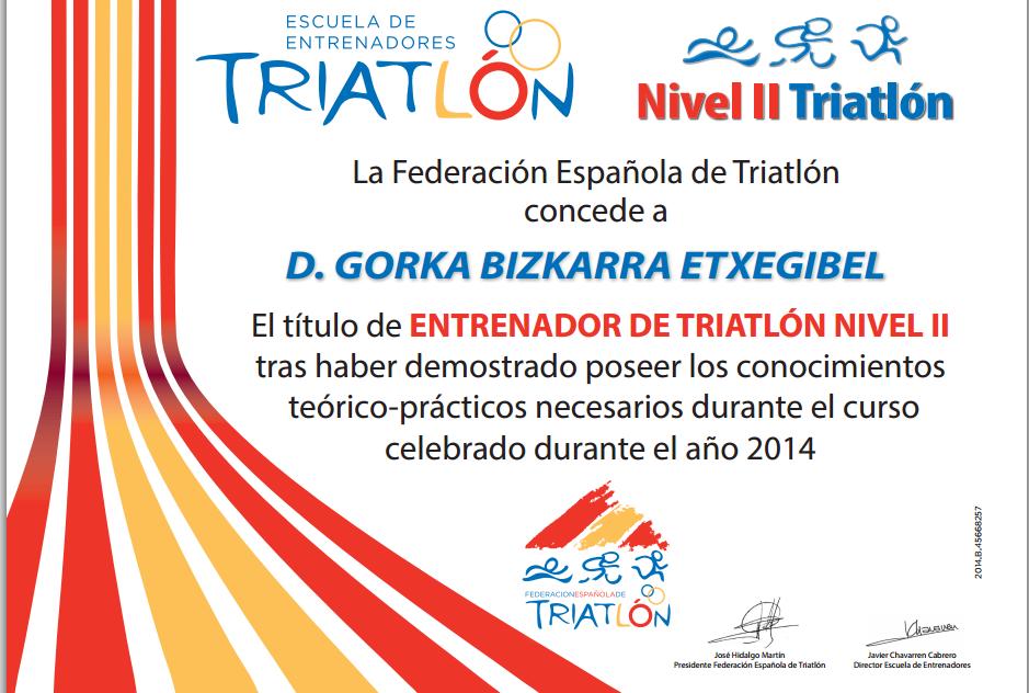 Entrenador de triatlon
