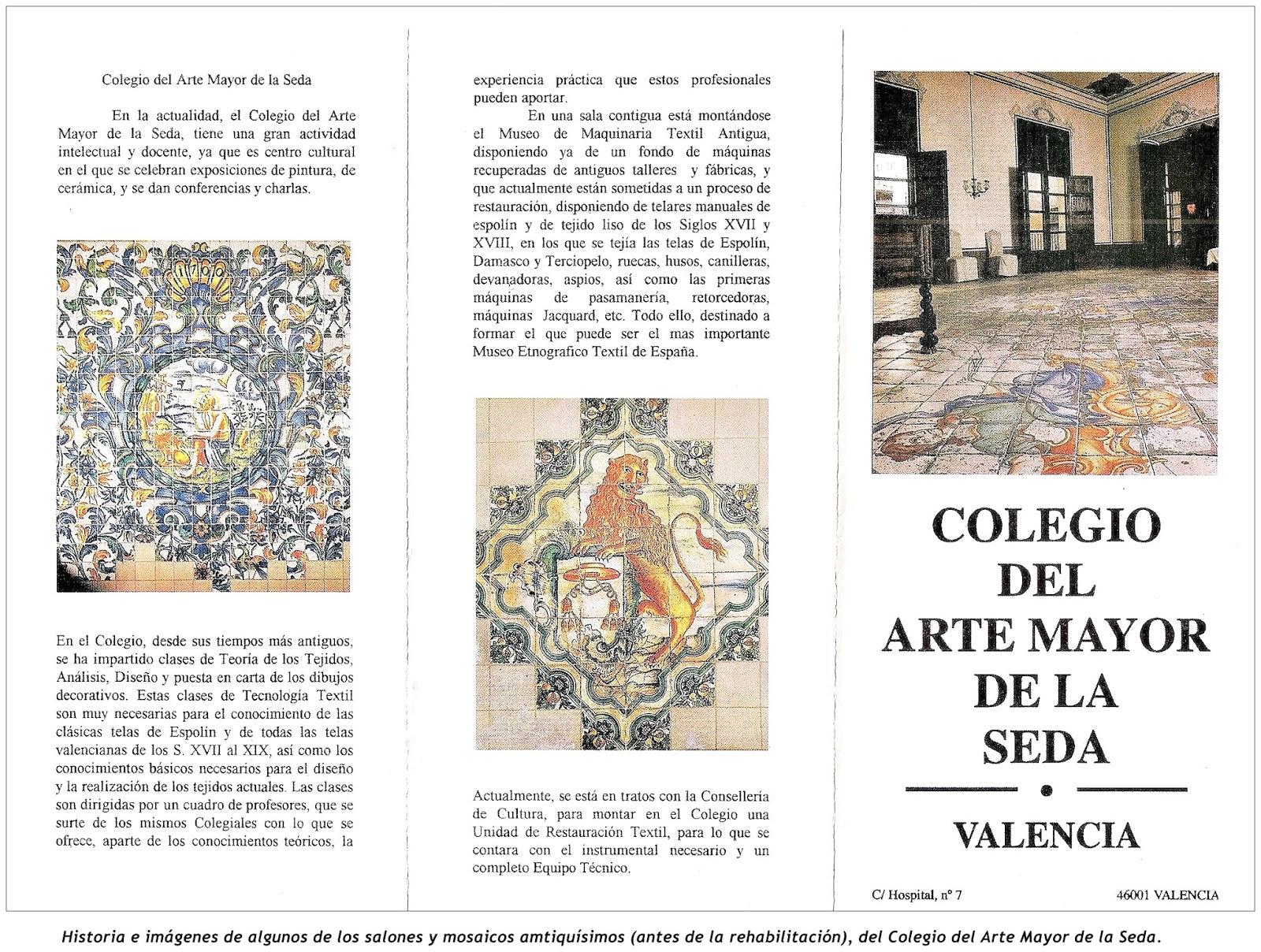Por otro lado no podemos ni debemos olvidar que el auge y la vida de la seda en Valencia entre los factores hist³ricos culturales mencionados