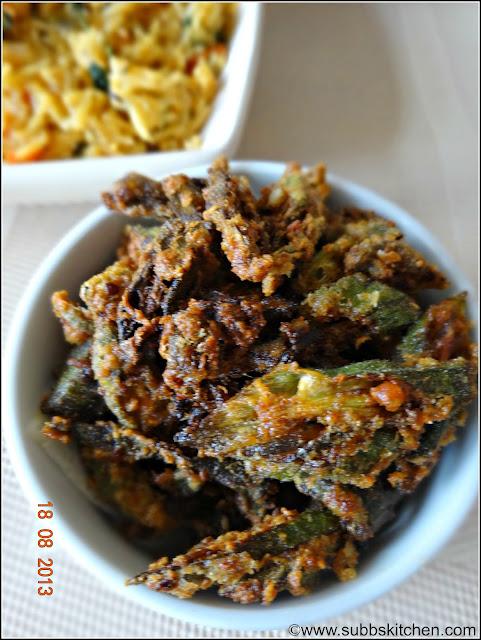 Vendakaai Varuval (Bhindi / Okra Fry)