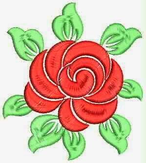 Red borduurwerk rose blomme werk Quilt