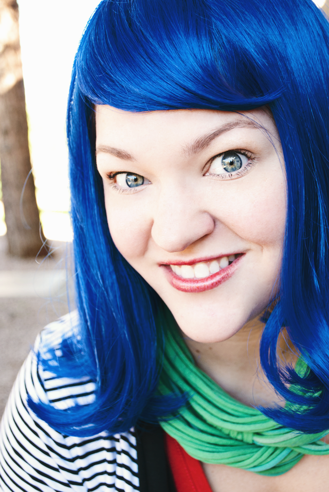 Traveling Blue Wig Project #fiercefund