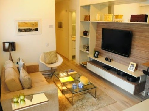 decorar una sala de estar pequeña  CasayDeco  Ideas para decorar tu ~ Decorar Sala Con Tv