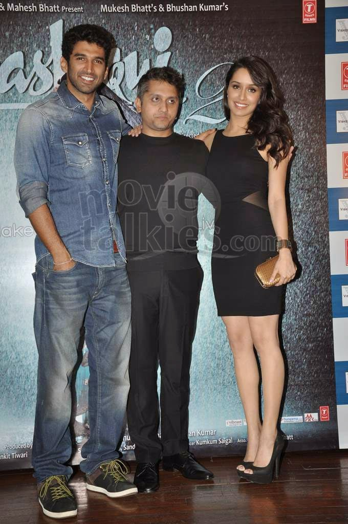 Aditya Roy Kapur, Mohit Suri And Shraddha Kapoor At 'Aashiqui 2' Success Bash