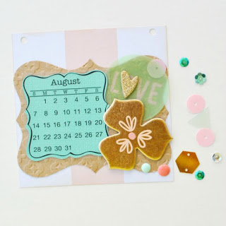 SRM Stickers Blog - 2016 Mini Calendar by Cathy - #minicalendars #2016 #die #giftcalendar #twine #DIY