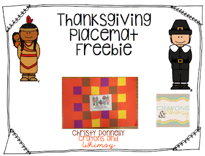 Thanksgiving Placemat Craft Title Page Freebie Crayons and Whimsy