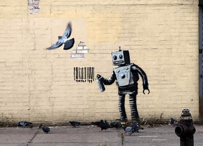 Risultati immagini per banksy robot
