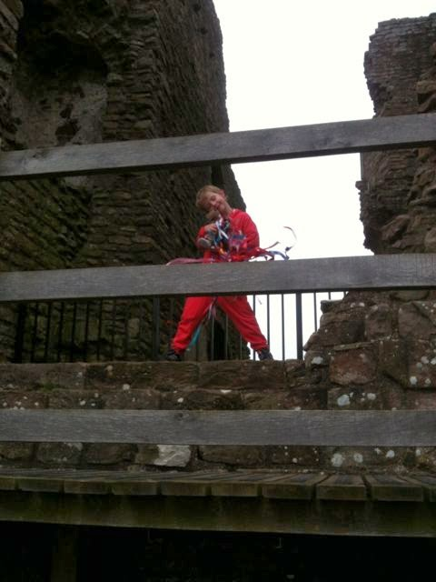 Ned the school bear at Brough Castle