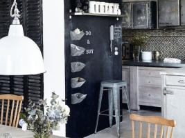 La petite fabrique de r ves un chalkboard dans ma cuisine - Mur ardoise cuisine ...