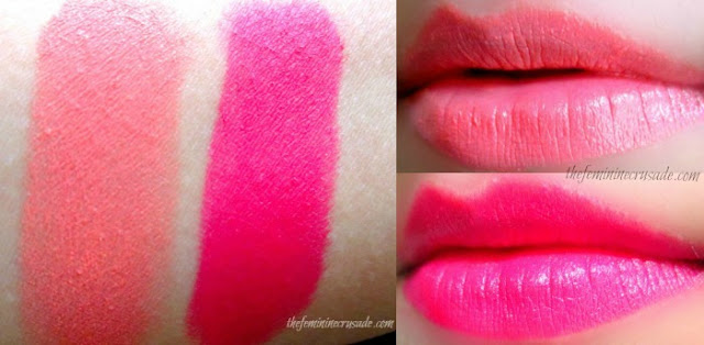 Picture of Topshop Lipsticks in Ohh La La & All About Me Swatches