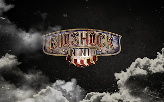 Bioshock Infinite Game Logo Dark Clouds HD Wallpaper
