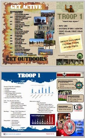 troop recruiting brochure template scouter jeff