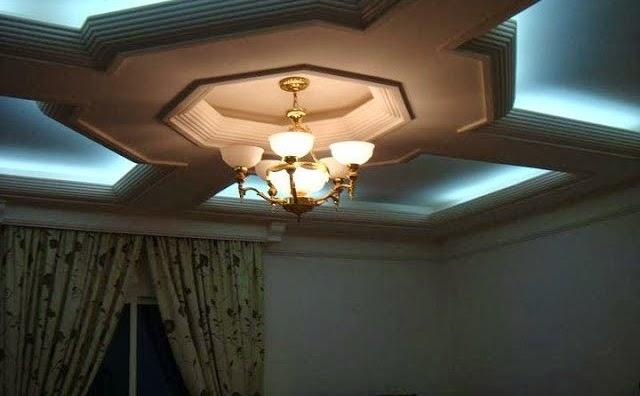 D coration salon marocain mod les de faux plafond for Decoration salon avec platre