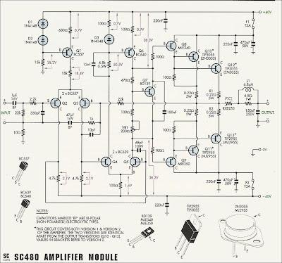 amplificateur de puissance 50w 70w avec 2n3055 et mj2955. Black Bedroom Furniture Sets. Home Design Ideas