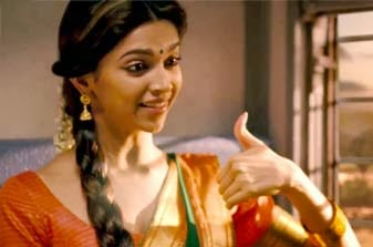 Deepika Padukone in the movie Chennai Express