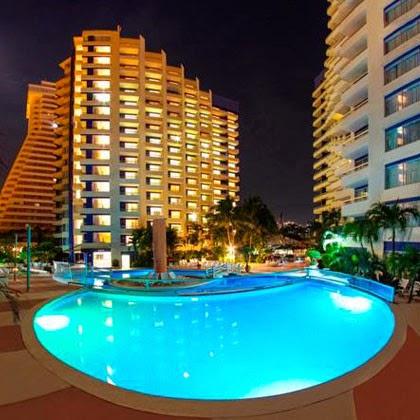 imagen en el hotel Playa Suites Acapulco vista de noche