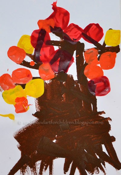 Fall Tree Preschool Craft