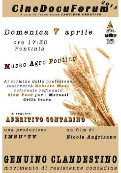 "Cinedocuforum 7 Aprile 2013 ""Genuino Clandestino"""