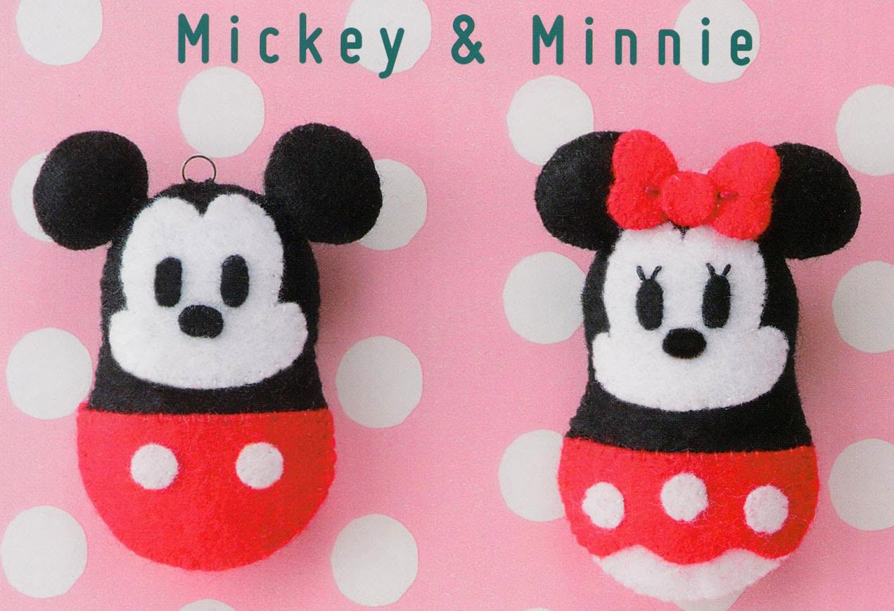 Free Japanese Craft Patterns: Mickey And Minnie Mouse Free Japanese ...