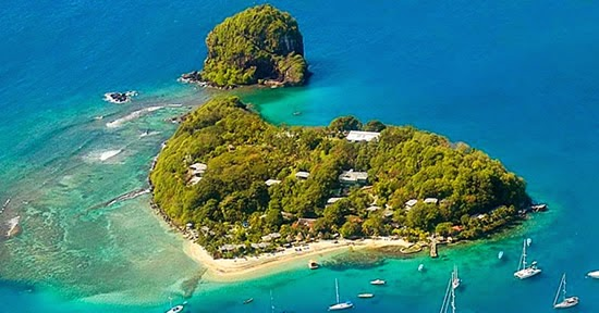 Private island resort for sale in the Grenadines