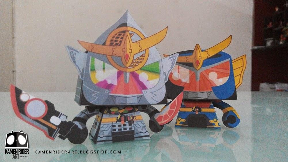 Kamen Rider Gaim Kiwami Arms Paper Toy