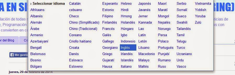 Gadget Traductor Idiomas