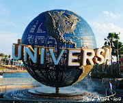 Here's the entrance to the Universal Studios island. (universal studios florida orlando globe water logo large )
