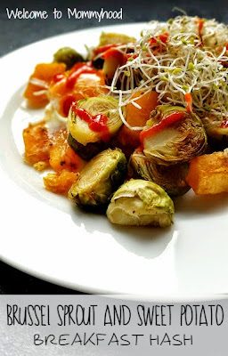 Healthy Breakfast: brussel sprouts and sweet potato hash #HealthyBreakfast #paleo