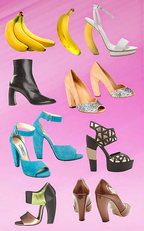Banana Heels Shoes