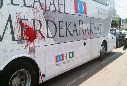 Bas disimbah cat... bukti nyawa Anwar dalam bahaya!