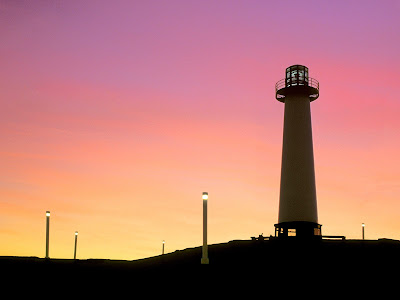 Awesome lighthouses with sunset wallpapers