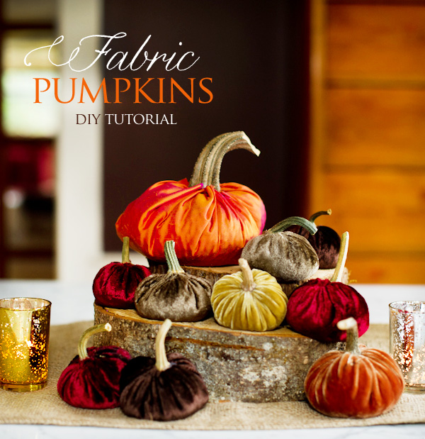 These DIY fabric pumpkins from Hostess with the Mostess look so soft and sleek and are really easy to make