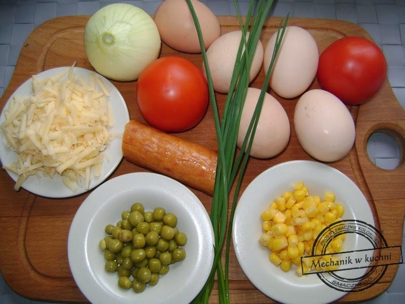 Wiosenna muffinkowa jajecznica mechanik w kuchni