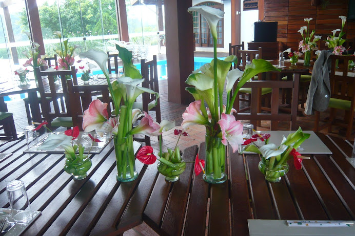 Ikebanas para mesa do Evento Guaramirim -SC