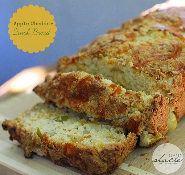 Apple Cheddar Quick Bread  from Simply Stacie