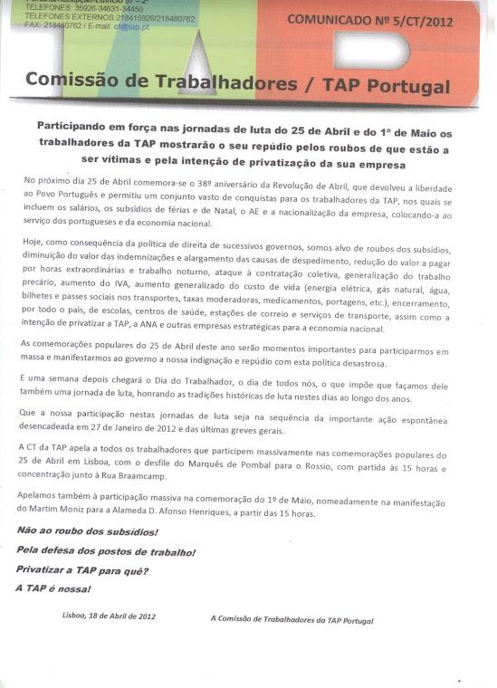 Comunicado 05/2012