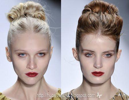 Обемен кок за средно дълга коса