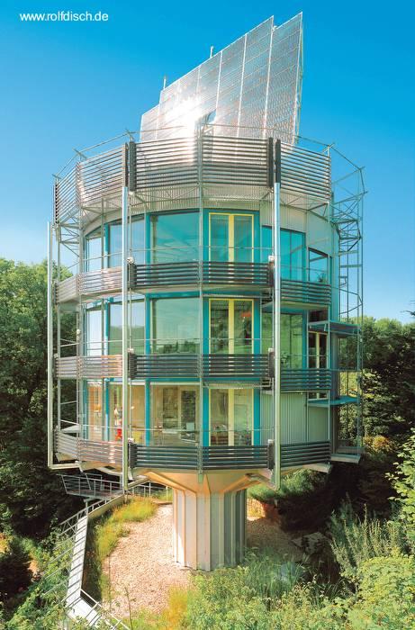 Arquitectura de casas casa solar redonda en alemania for Casas modernas redondas
