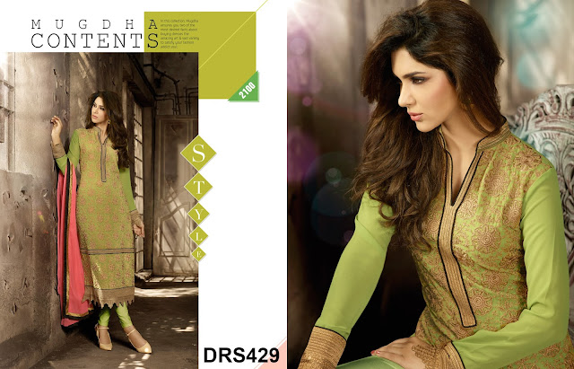 Resham And Zari Embroidery Work Dress Material