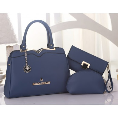 JESSICA MINKOFF BAG ( 3 in 1 Set ) - BLUE
