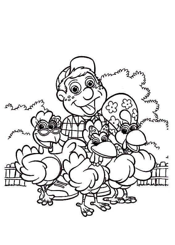 a desenhar Cocorico colorir