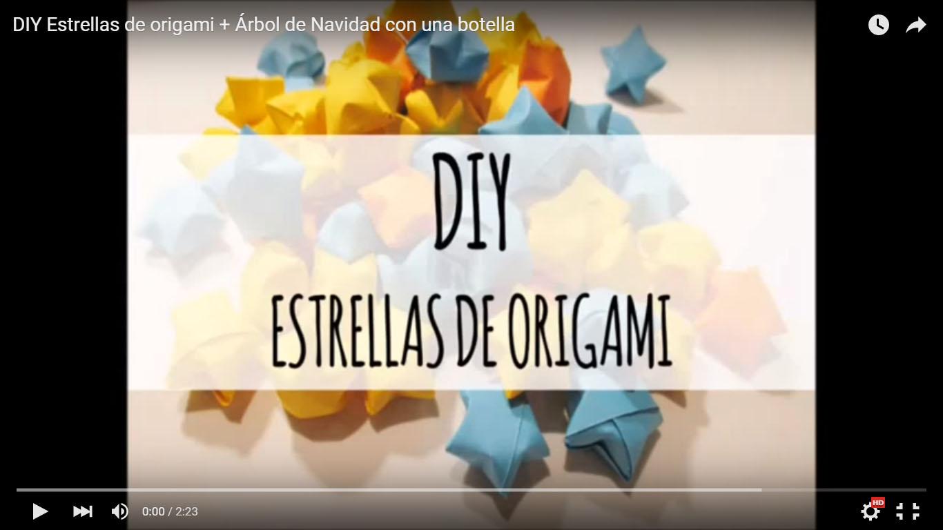 DIY Tutorial Estrellas 3D de Origami