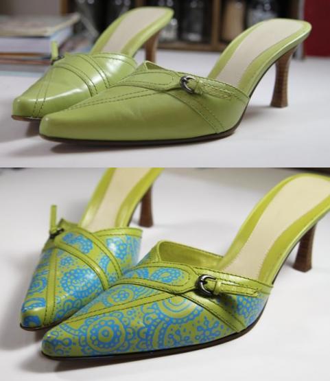 Zapatos reciclados reciclados con tatuaje o diseño