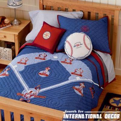 boys room ideas with baseball bedding