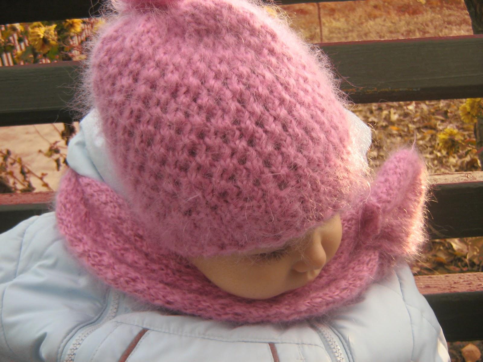 Вязание шапок из пряжи для девочки 928