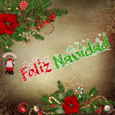 Postal navideña con mensaje de Feliz Navidad
