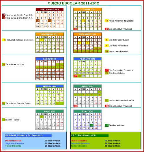 Calendario Escolar 2011 Madrid Pdf 1 Calendario Escolar